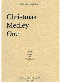 Christmas Medley One (String Quartet) - Parts Books | String Quartet