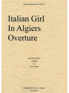 Gioacchino Rossini: Italian Girl In Algiers Overture (String Quartet) - Score Books | String Quartet