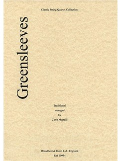 Greensleeves (String Quartet) - Parts Books | String Quartet
