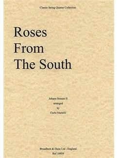 Johann Strauss: Roses From The South Op.388 (String Quartet) - Score Books | String Quartet