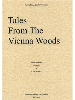 Johann Strauss: Tales From The Vienna Woods Op.325 (String Quartet) - Score Books | String Quartet