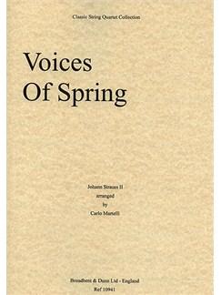 Johann Strauss: Voices of Spring Op.410 (String Quartet) - Score Books | String Quartet