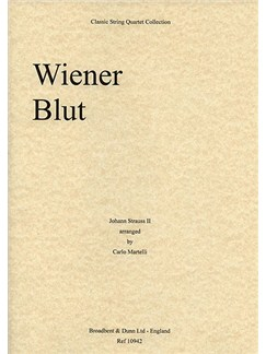 Johann Strauss: Wiener Blut Op.354 (String Quartet) - Score Books | String Quartet