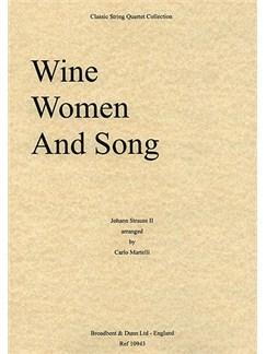 Johann Strauss: Wine, Women and Song Op.333 (String Quartet) - Score Books | String Quartet