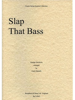 George Gershwin: Slap That Bass (String Quartet) - Parts Books | String Quartet