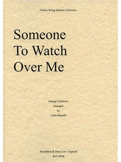 George Gershwin: Someone To Watch Over Me (String Quartet) - Parts Books | String Quartet