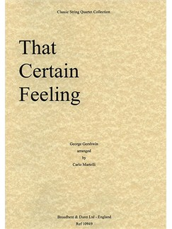 George Gershwin: That Certain Feeling (String Quartet) - Parts Books | String Quartet