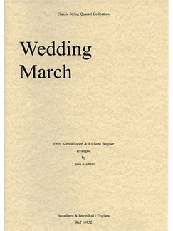 Felix Mendelssohn And Richard Wagner: Wedding March (String Quartet) - Parts Books | String Quartet