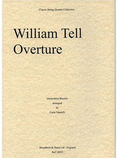 Gioacchino Rossini: William Tell Overture (String Quartet) - Parts Books | String Quartet