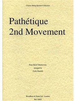 Pyotr Ilyich Tchaikovsky: Pathétique Symphony - Movement 2 (String Quartet) - Parts Books | String Quartet