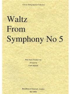 Pyotr Ilyich Tchaikovsky: Waltz (Symphony No.5) String Quartet Parts Books | String Quartet