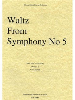 Pyotr Ilyich Tchaikovsky: Waltz (Symphony No.5) String Quartet Score Books | String Quartet
