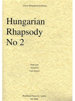 Franz Liszt: Hungarian Rhapsody No.2 (String Quartet) - Parts Books | String Quartet