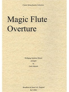 W.A. Mozart: Magic Flute Overture (String Quartet) - Score Books | String Quartet