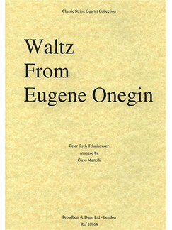 Pyotr Ilyich Tchaikovsky: Waltz (Eugene Onegin) String Quartet - Parts Books | String Quartet
