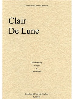 Claude Debussy: Clair De Lune (String Quartet) - Score Books | String Quartet