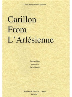 Georges Bizet: Carillon From L'Arlésienne Suite (String Quartet) - Parts Books | String Quartet
