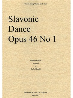 Antonin Dvorak: Slavonic Dance Op.46 No.1 (String Quartet) - Score Books | String Quartet