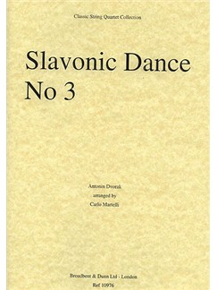 Antonin Dvorak: Slavonic Dance Op.46 No.3 (String Quartet) - Score Books | String Quartet
