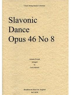 Antonin Dvorak: Slavonic Dance Op.46 No.8 (String Quartet) - Score Books | String Quartet