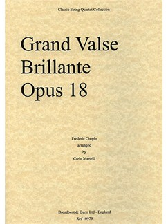 Frederic Chopin: Grande Valse Brillante Op.18 (String Quartet) - Score Books | String Quartet