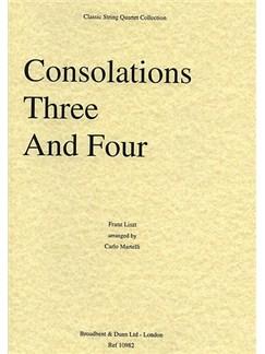 Franz Liszt: Consolations No.3 And 4 (String Quartet) - Score Books | String Quartet