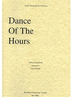 Amilcare Ponchielli: Dance Of The Hours (String Quartet) - Score Books | String Quartet