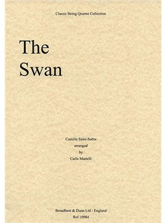 Camille Saint-Saens: The Swan (String Quartet) - Parts Books | String Quartet