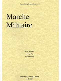 Franz Schubert: Marche Militaire (String Quartet) - Parts Books | String Quartet