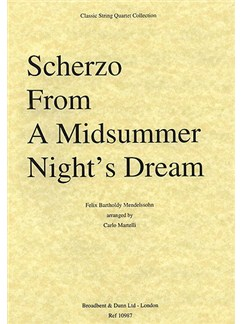 Felix Mendelssohn: Scherzo (A Midsummer Night's Dream) String Quartet Score Books | String Quartet