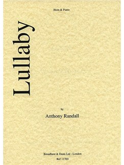 Anthony Randall: Lullaby Books | French Horn, Piano Accompaniment