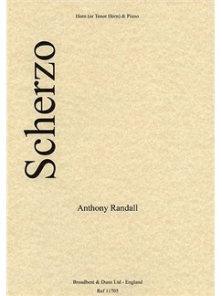 Anthony Randall: Scherzo Books | French Horn, Piano Accompaniment