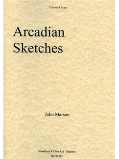 John Marson: Arcadian Sketches Books | Clarinet, Harp
