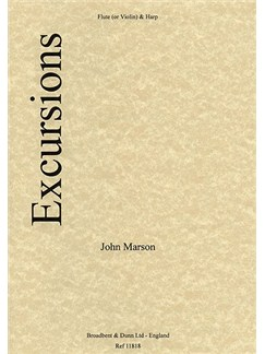 John Marson: Excursions (Violin And Harp) Books | Violin, Harp