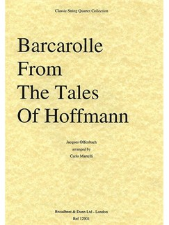Jacques Offenbach: Barcarolle From Tales Of Hoffmann (String Quartet) - Score Books | String Quartet