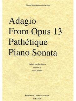 Ludwig Van Beethoven: Adagio (Piano Sonata No.8 'Pathetique') - String Quartet Parts Books | String Quartet