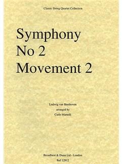 Ludwig Van Beethoven: Symphony No. 2 Movement 2 (String Quartet) - Parts Books | String Quartet