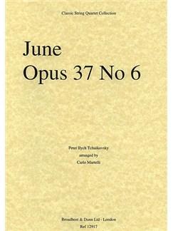 Pyotr Ilyich Tchaikovsky: June Op.37 No.6 (String Quartet) - Parts Books | String Quartet