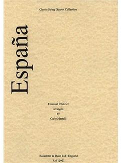 Emmanuel Chabrier: España (String Quartet) - Score Books   String Quartet