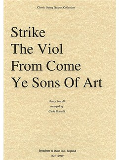 Henry Purcell: Strike The Viol From Come Ye Sons Of Art (String Quartet) - Score Books | String Quartet