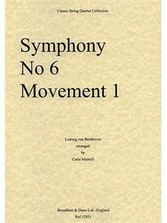Ludwig Van Beethoven: Movement No.1 - Symphony No.6 (String Quartet) - Parts Books | String Quartet