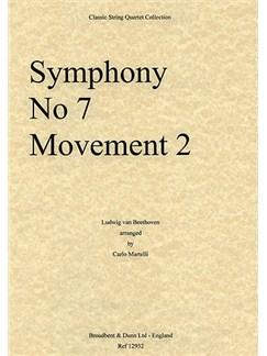 Ludwig Van Beethoven: Symphony No.7 Movement 2 (String Quartet) - Score Books | String Quartet