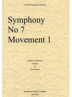 Ludwig Van Beethoven: Symphony No.7 Movement 1 (String Quartet) - Parts Books | String Quartet