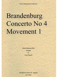 J.S. Bach: Brandenburg Concerto No. 4 Movement 1 (String Quartet) - Parts Books | String Quartet