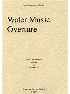 G.F. Handel: Water Music (String Quartet) - Score Books | String Quartet