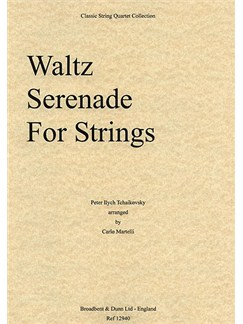 Pyotr Ilyich Tchaikovsky: Waltz From Serenade For Strings (String Quartet) - Score Books | String Quartet