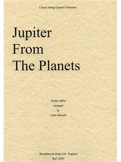Gustav Holst: Jupiter From The Planets (String Quartet) - Score Books | String Quartet