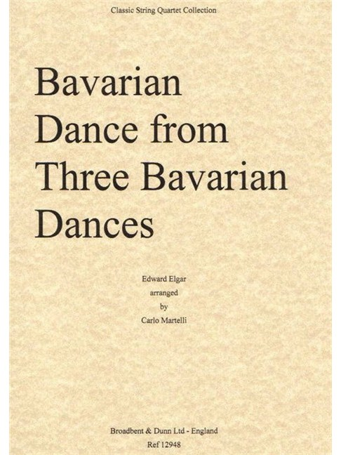 Edward Elgar: Bavarian Dance - String Quartet (Parts) Books | String Quartet