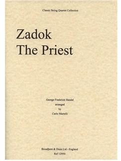 George Frideric Handel: Zadok The Priest (String Quartet) - Score Books | String Quartet