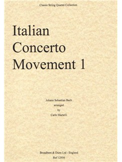 J.S. Bach: Italian Concerto, Movement 1 (Score) Books | String Quartet